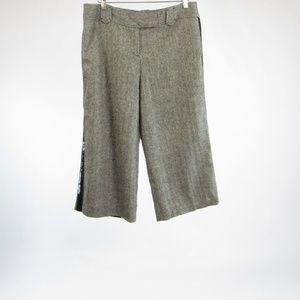 Black gray ANN TAYLOR LOFT Marisa capri pants 8